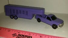 1/64 ERTL farm toy custom purple 5th wheel livestock trailer & f250 ford truck
