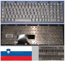 CLAVIER QWERTZ SLOVÉNIE FUJITSU Siemens Amilo XA1526 XA-1526 V022605AK2 Noir
