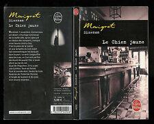 """Georges Simenon : Maigret """" Le chien jaune """" Editions Le Livre de Poche"""
