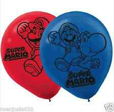Super Mario Brother Latex Helium Quality Balloons 6 ct Party Decorations
