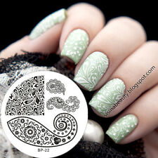 Nagel Schablone BORN PRETTY Nail Art Stamp Stamping Template Plates BP-22