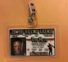 The Walking Dead ID Badge-Zombie Killing License Merle  Dixon