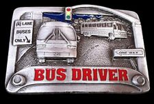 CITY BUS DRIVER STREET SIGNS PASSENGER BUSES BELT BUCKLE BOUCLE DE CEINTURES