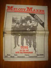 MELODY MAKER 1981 JAN 24 ECHO AND BUNNYMEN NEW ORDER