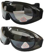 2 pairs Ski/Motors/Sky Diving Goggle cover/put/wear over Rx glasses+smoke+clear