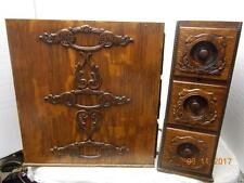 ANTIQUE ORNATE SINGER SEWING TREADLE MACHINE DRAWERS -6 DRAWER SET