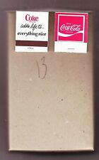 COCA-COLA  MATCHES  BOX OF FIFTY    COKE ADDS LIFE TO EVERYTHING NICE       #13
