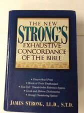 The New Strong's Exhaustive Concordance Bible Easy To Read Print Dictionary