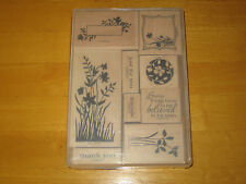 Stampin up Just Believe wooden block rubber stamp set