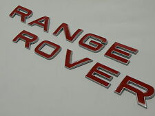 LE RANGE ROVER SPORT EVOQUE SOULEVÉES BORD ARGENT LIP BONNET ROUGE INSCRIPTION BADGE LOGO