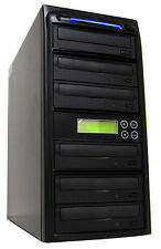 5 Burner 24X CD DVD Disc Duplicator Copier Multiple Media Burn Drive Machine