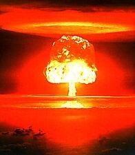 """2.5x3.5"""" Atomic Bomb Mushroom cloud of Death computer sticker / decal. Fire bomb"""