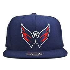 Washington Capitals Mitchell & Ness Current Solid Wool Blue Snapback Hat Cap NHL