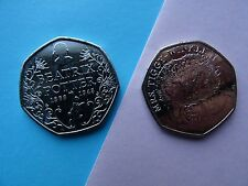 2 RARE 50 p UNC coins 2016 - Beatrice Potter /Fifty Pence Coins UNC GB coin hunt