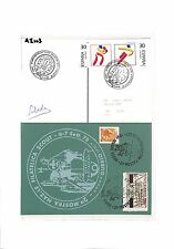 AI103 1975 SCOUTING Spain Italy Boy Scout Postcards (2 items)