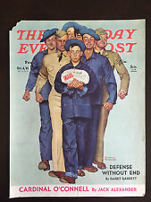 "1941 Saturday Evening Post COVER ONLY Norman Rockwell ""Package from Home"""