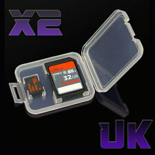 2 x SD Card Case Holder - Micro SDHC Memory Hard Protective Box for 32gb 64gb