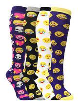 Women's Emoji Knee High Socks - 4 Pair Assortment