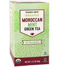 Trader Joe's Organic Moroccan Mint Green Tea with Lemongrass, 20 Tea Bags