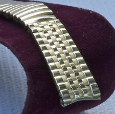 LAST ONE! Brick link 17.3mm or 11/16 gold-filled vintage watch band Miraflex USA