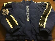 VINTAGE 90'S STARTER AUTHENTIC NHL TORONTO MAPLE LEAFS CENTER ICE WINTER COAT XL