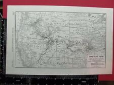 94 YEAR OLD 1922 UNION PACIFIC RAILWAY RAILROAD SYSTEM MAP UP RR DEPOT LOCATIONS