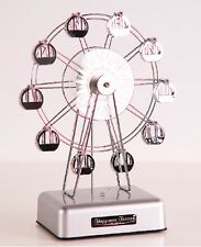 LED LIGHT SILVER FERRIS WHEEL ROTATE MUSIC BOX