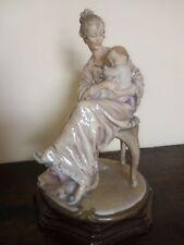 Antica SCULTURA Statua FIRMATA G.ARMANI - FLORENCE 1983 - Maternità