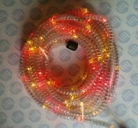MULTICOLOUR LED ROPE LIGHT OUTDOOR LIGHTS CHASING STATIC XMAS GARDENS 9 meter