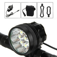 18000 Lm 9xCree XML T6 LED Bicycle Bike Cycling Head Light Lamp 12000mAh Battery