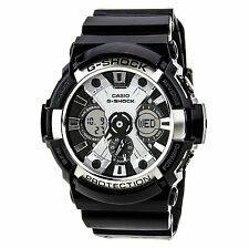 Casio GA200BW-1A Men's G-Shock Magnetic Resistant World Timer Silver Black Watch