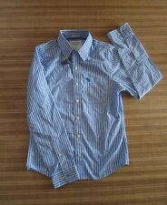 NWT ..ABERCROMBIE & F .. Men's Casual Shirt .. Size S    Blue / White line