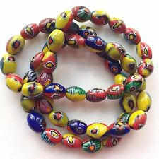 Millefiori Oval Beads, Approximately 12mm x 10mm and 48 Beads Per Strand