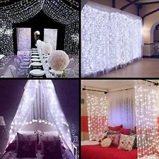 MZD8391 [Low Voltage] Led Window Curtain Icicle Lights, 3m3m/9.8ft9.8ft 300 Led