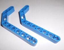 Lego (32009) 2 Liftarme 1x11,5x1 - 2x gebogen 45°, in blau aus 8435 8052 8415