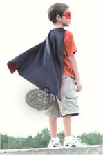 New 10 Red Black Reversible Satin Super Hero Cape and Mask