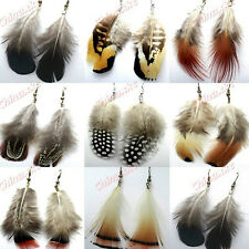 Wholesale Jewelry Lots 10pairs Mixed Natural Feathers Fashion Drop Earrings New