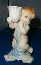KARL ENS CHERUB / PUTTI FIGURINE Ca. 1919 CANDLE HOLDER / Germany