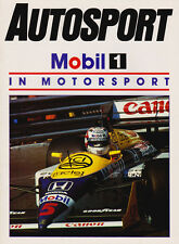 Mobil in Motorsport Autosport Supplement 1987 - History, Williams, Formula Ford