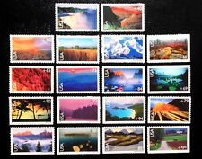 US Airmail #C133-C150 Airmail Scenic Landscapes MNH Set of 18, 1999-2005