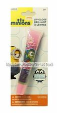 MINIONS* Lip Gloss COTTON CANDY Rainbow+Squeezy Tube STUART w/Googly Eye NEW!