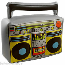44cm Totally 1980's  80's Inflatable Boombox Neon Music Stereo Prop Decoration