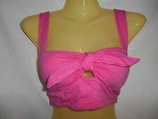 Joyce Leslie Bozzolo NWT Small very sexy pink bow keyhole padded midriff shirt