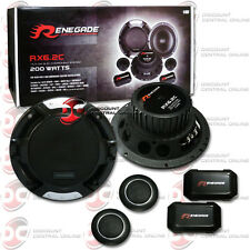 """BRAND NEW RENEGADE 6.5-INCH 2-WAY CAR AUDIO COMPONENT SPEAKER SYSTEM PAIR 6-1/2"""""""
