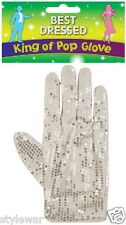 New Michael Jackson Silver Sequin White Glove Billy Jean King Of Pop Fancy Dress
