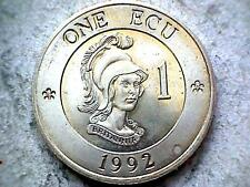 EUROPE BRITAIN 1992 ECU, BRITANNIA, FANTASY COIN