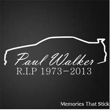 Paul Walker RIP Car Window Bumper JDM VW VAG Novelty Vinyl Decal Sticker