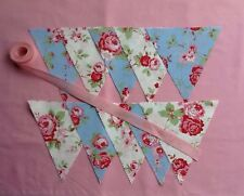 Bunting Kit  20 Flags Cath Kidston White & Blue Rose Sewing Kit By DeLilahs