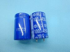 2pc Japan hitachi 450V 100uF Electrolytic capacitor