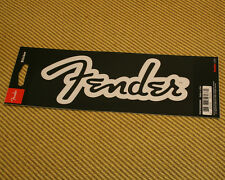 910-0255-000 Fender™ Guitar Bass & Amp Logo Sticker White Matte